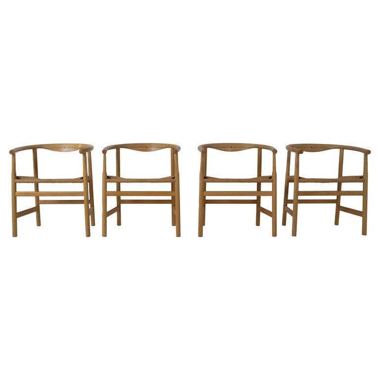 Set of Four Hans Wegner PP203 Dining Chairs for PP Møbler, Denmark, 1970s For Sale