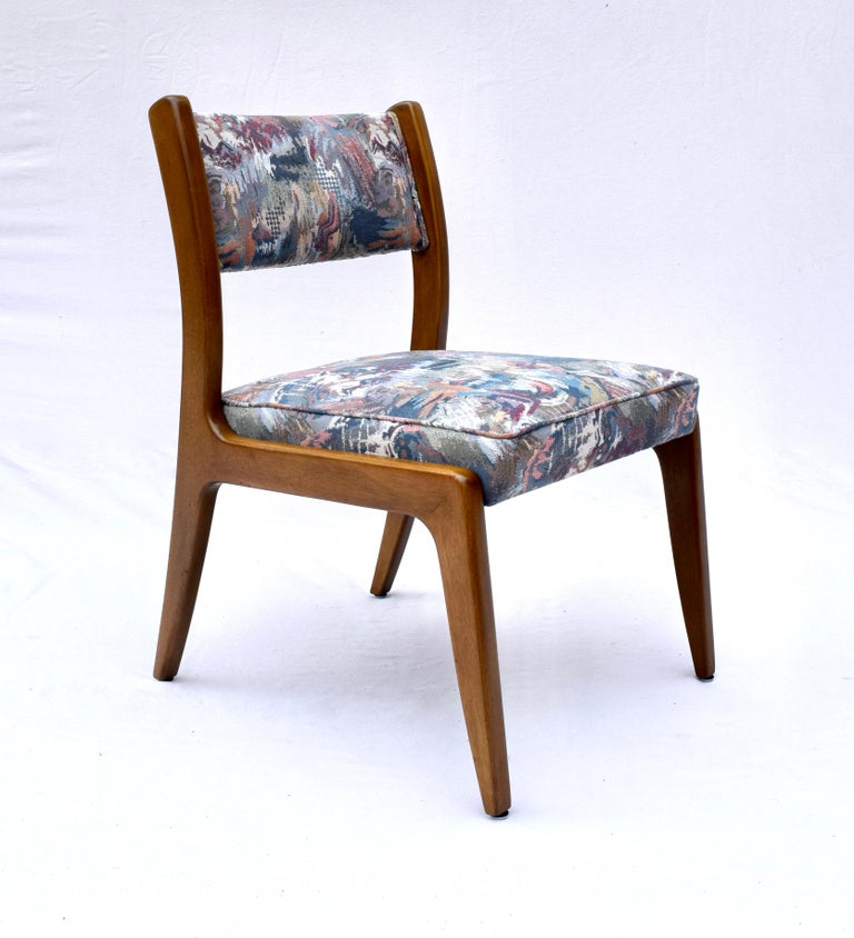 Set of Four Harvey Probber Mahogany Dining Chairs, 1950s For Sale 5
