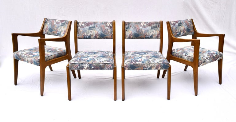 Set of Four Harvey Probber Mahogany Dining Chairs, 1950s For Sale 7
