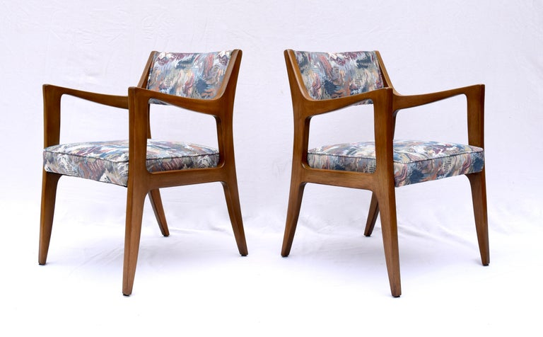 American Set of Four Harvey Probber Mahogany Dining Chairs, 1950s For Sale