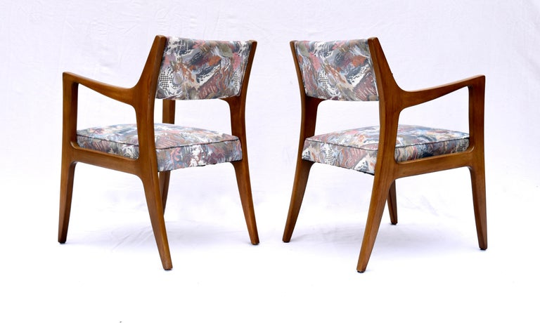 Set of Four Harvey Probber Mahogany Dining Chairs, 1950s In Good Condition For Sale In Southampton, NJ