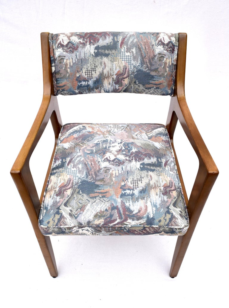 20th Century Set of Four Harvey Probber Mahogany Dining Chairs, 1950s For Sale