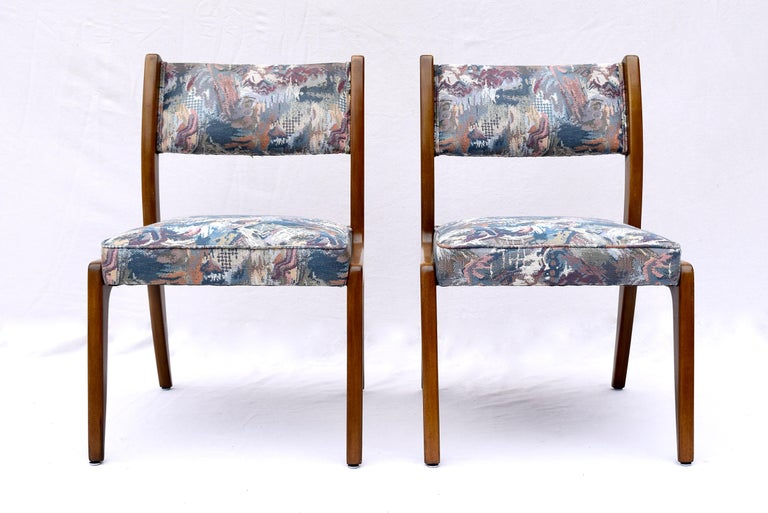 Set of Four Harvey Probber Mahogany Dining Chairs, 1950s For Sale 2