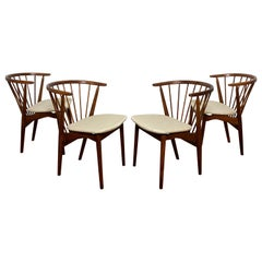 """Set of Four Helge Sibast for Sibast Mobler """"No. 6"""" Dining Chairs, Ca. 1950s"""