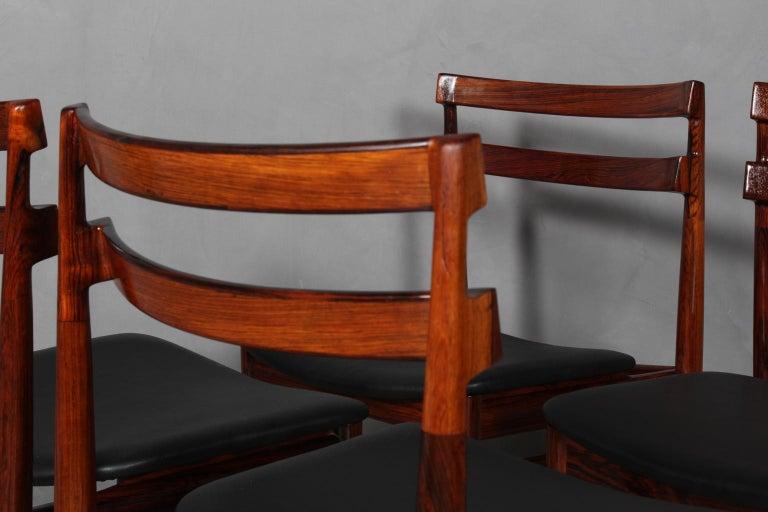 Scandinavian Modern Set of Four Henry Rosengren Hansen Dining Chairs For Sale