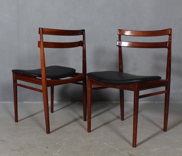 Danish Set of Four Henry Rosengren Hansen Dining Chairs For Sale