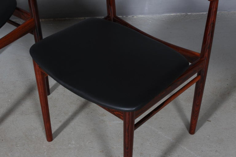 Set of Four Henry Rosengren Hansen Dining Chairs In Good Condition For Sale In Esbjerg, DK