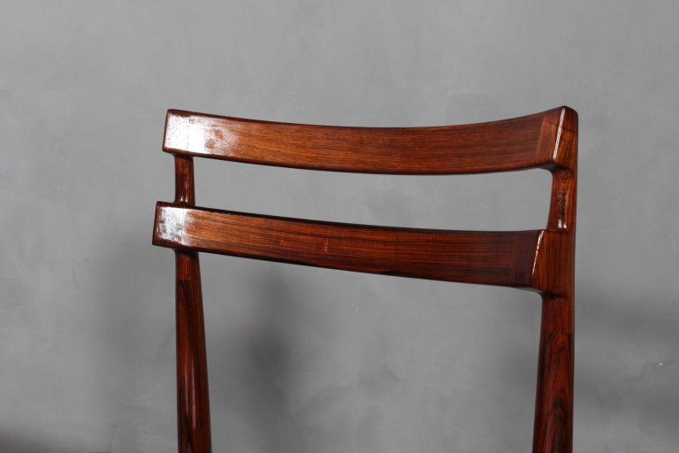 Mid-20th Century Set of Four Henry Rosengren Hansen Dining Chairs For Sale