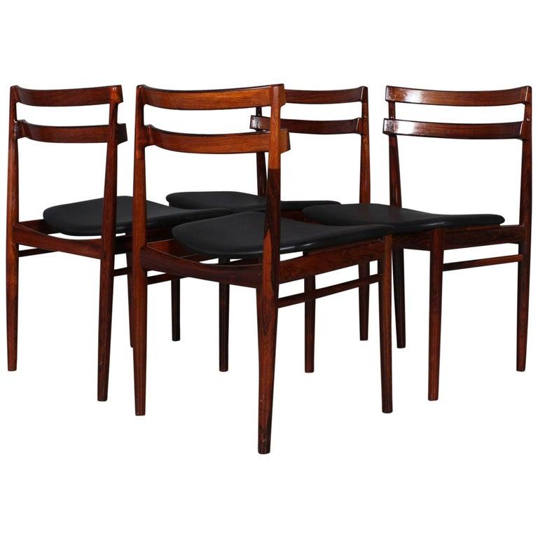 Set of Four Henry Rosengren Hansen Dining Chairs For Sale
