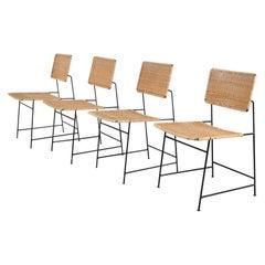 """Set of Four Herta-Maria Witzemann """"SW88"""" Chairs for Wilde + Spieth, Germany 1954"""