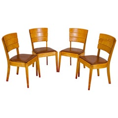 Set of Four Heywood Wakefield Dining Chairs, C3714