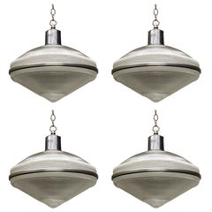Set of Four Holophane Ceiling Fixtures, USA, circa 1950 '20 Available'