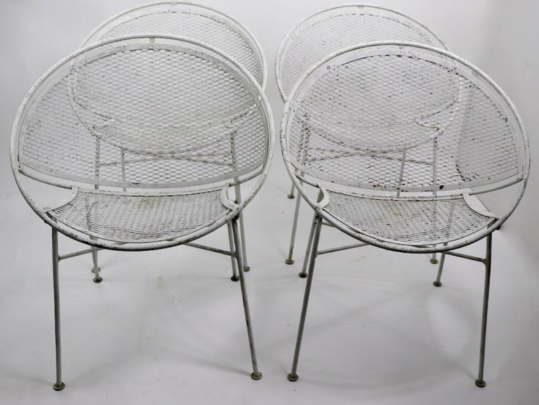 Set of Four Hoop Chairs by Salterini For Sale 6