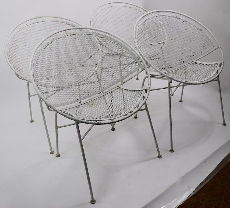 Set of Four Hoop Chairs by Salterini For Sale 8