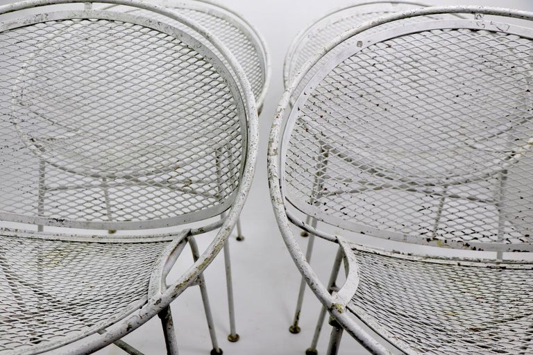 Set of Four Hoop Chairs by Salterini For Sale 10