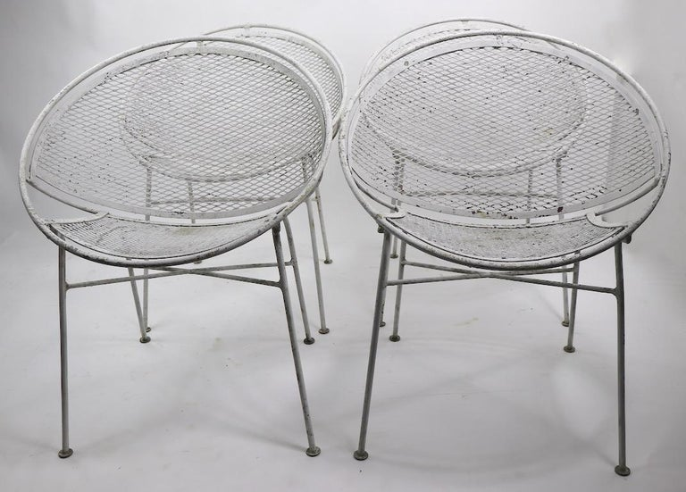 Set of Four Hoop Chairs by Salterini For Sale 11