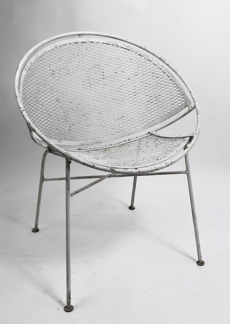 Mid-Century Modern Set of Four Hoop Chairs by Salterini For Sale