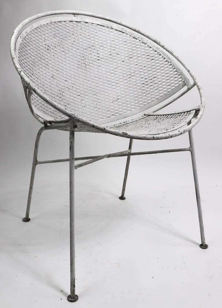 American Set of Four Hoop Chairs by Salterini For Sale