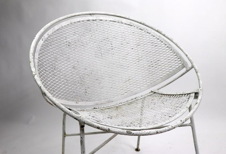 Set of Four Hoop Chairs by Salterini In Good Condition For Sale In New York, NY