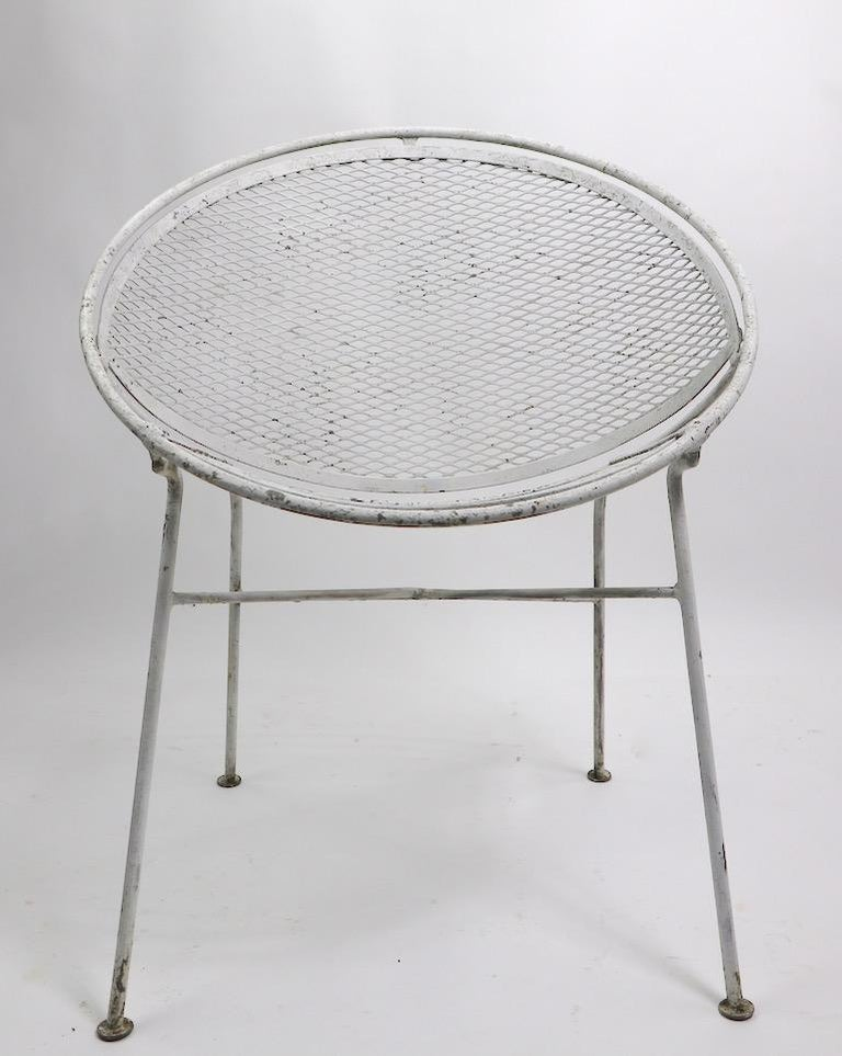 Metal Set of Four Hoop Chairs by Salterini For Sale