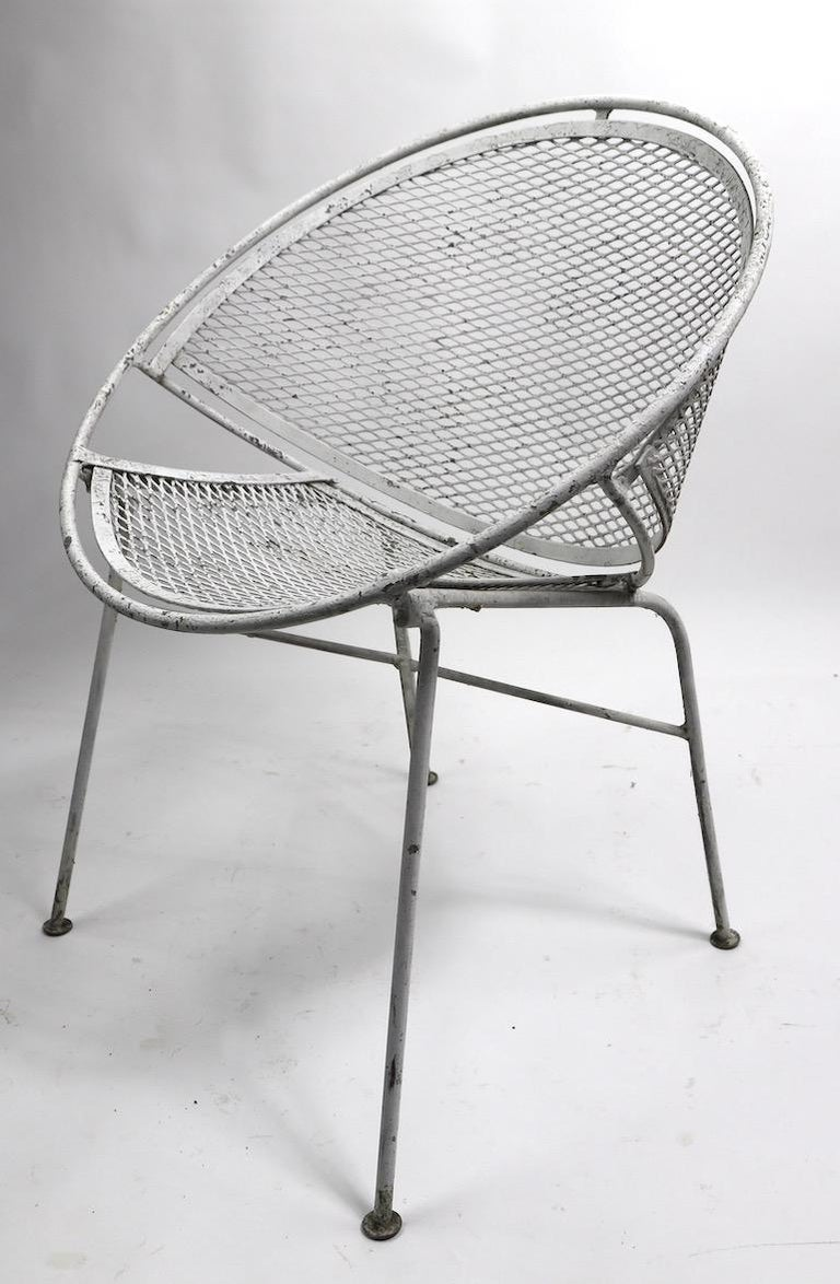 Set of Four Hoop Chairs by Salterini For Sale 1