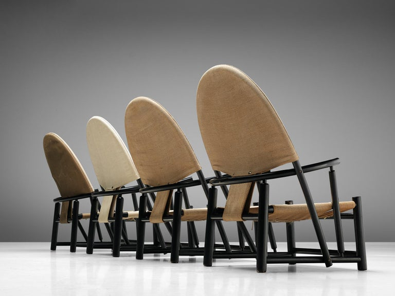 Piero Palange & Werther Toffoloni, set of four lounge chairs