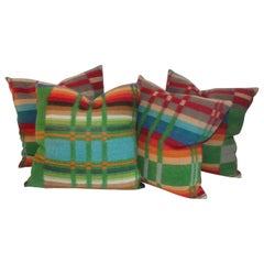Set of Four Horse Blanket Pillows