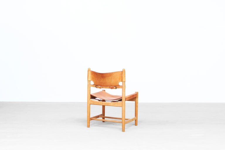 20th Century Set of Four Hunting Dining Chairs 3237 by Børge Mogensen for Fredericia Denmark  For Sale