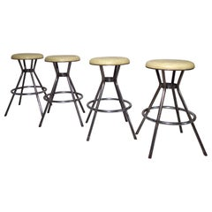 Set of Four Industrial Stools by Cosco