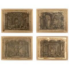 Set of Four Italian 18th Century Engraving Prints