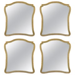 Set of Four Italian 18th Century Genovese Mecca and Patinated Mirrors