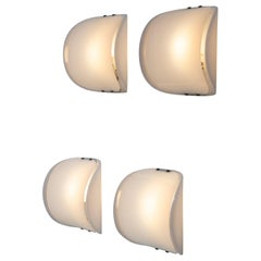 Set of Four Italian 1960s Plexiglass Sconces