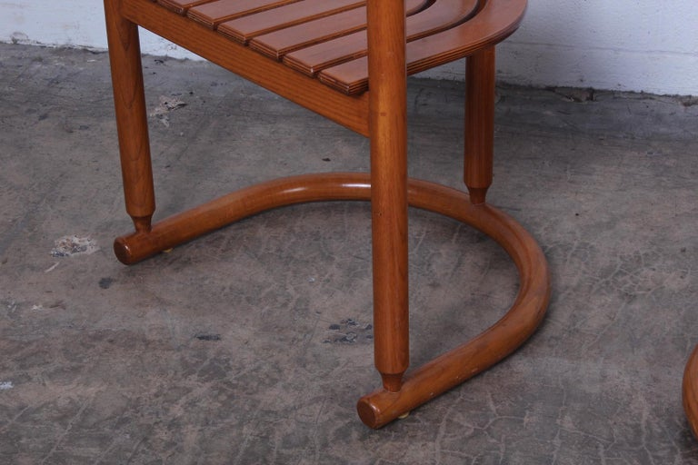Set of Four Italian Armchairs For Sale 6