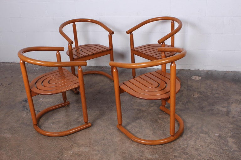 Set of Four Italian Armchairs For Sale 1