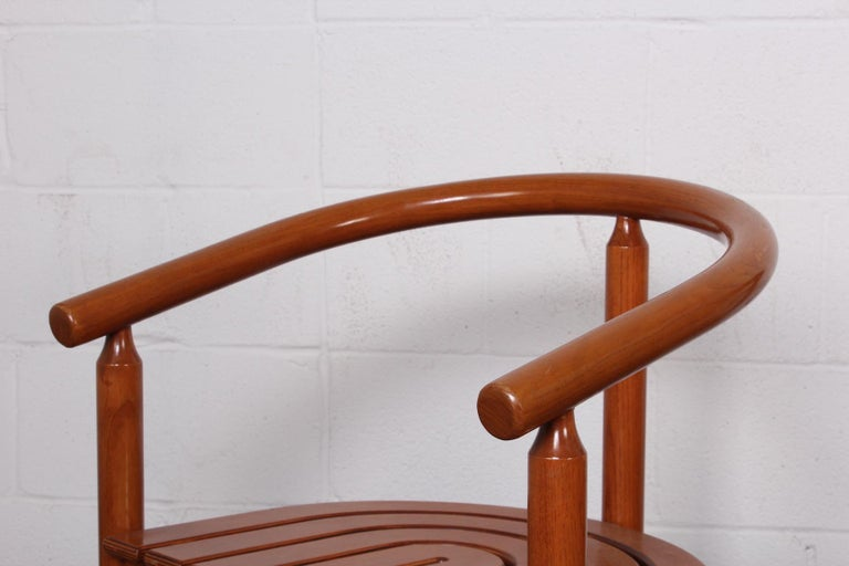 Set of Four Italian Armchairs For Sale 4