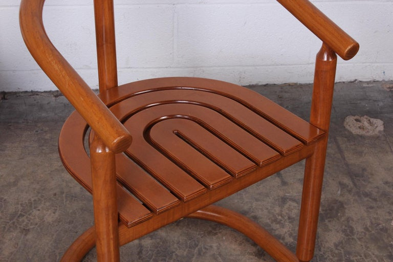 Set of Four Italian Armchairs For Sale 5