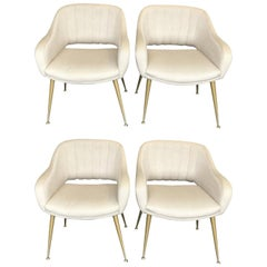Set of Four Italian Chairs