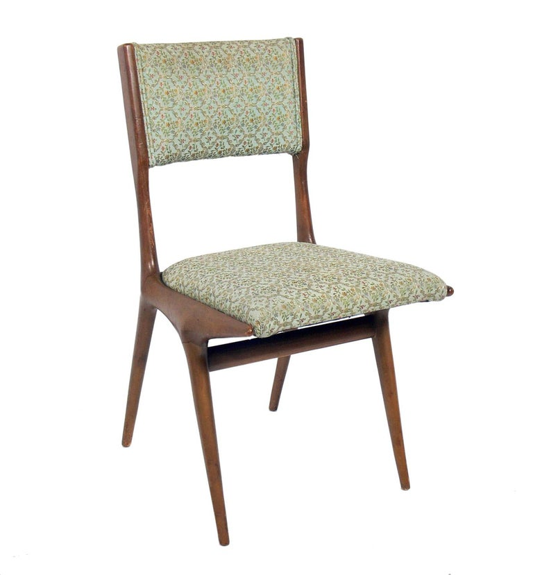 Set of Four Italian Dining Chairs by Carlo di Carli In Good Condition For Sale In Atlanta, GA