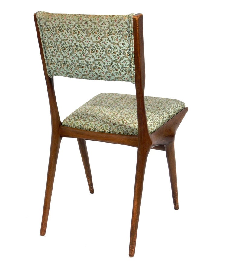 Mid-20th Century Set of Four Italian Dining Chairs by Carlo di Carli For Sale