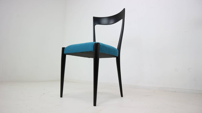Mid-20th Century Set of Four Italian Dining Chairs by Melchiorre Bega, 1950s For Sale