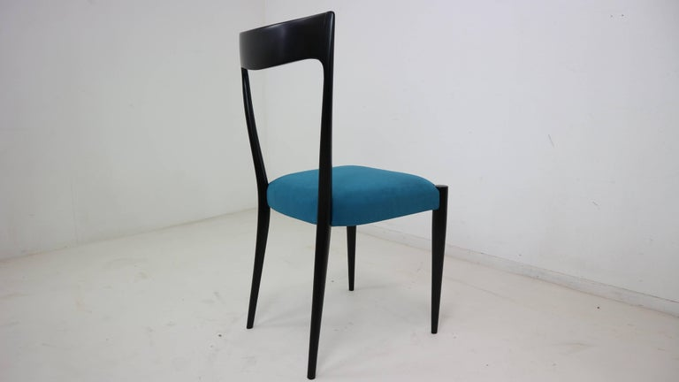 Set of Four Italian Dining Chairs by Melchiorre Bega, 1950s For Sale 1