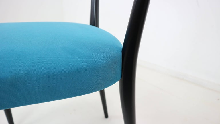 Set of Four Italian Dining Chairs by Melchiorre Bega, 1950s For Sale 2