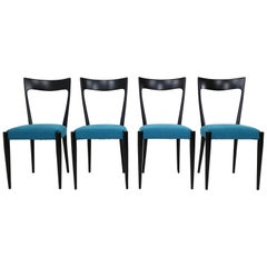 Set of Four Italian Dining Chairs by Melchiorre Bega, 1950s