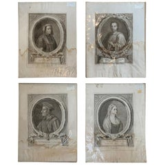 Set of Four Italian Florentine Prints by Guiseppe Allegrini After Originals