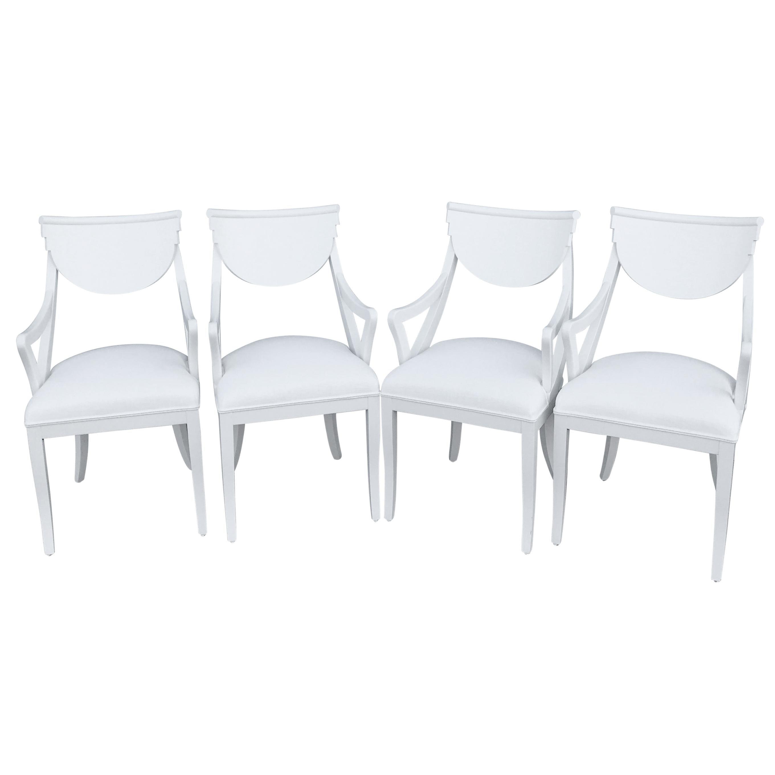 Set of Four Italian Klismos Armchairs