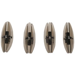 Set of Four Italian Mid-Century Modern Wall Sconces