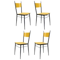 Set of Four Italian Midcentury Side Chairs