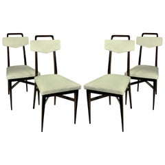 Set of Four Italian Midcentury Dining Chairs