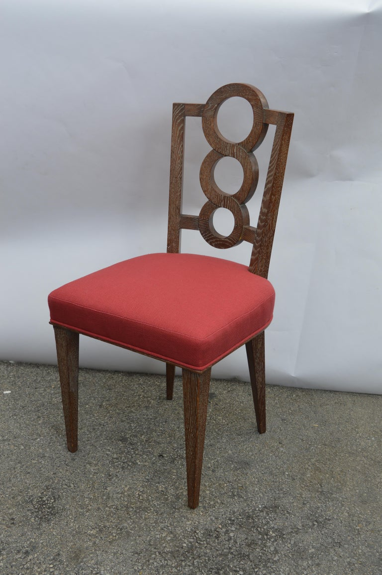 Set of Four Italian Oak Chairs In Good Condition For Sale In Los Angeles, CA