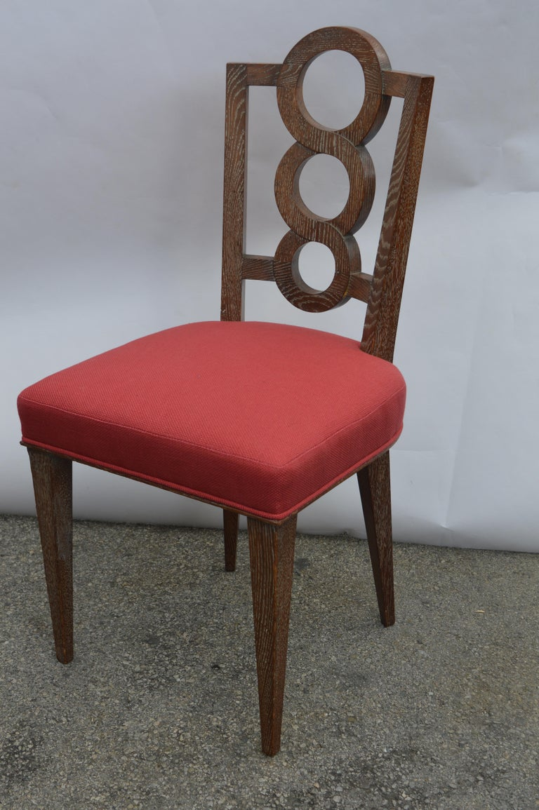 20th Century Set of Four Italian Oak Chairs For Sale